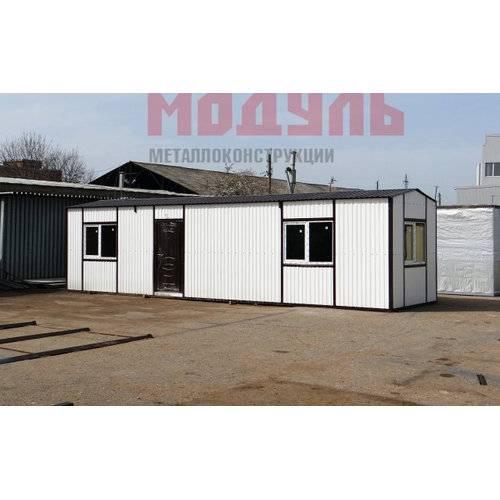 Дачный домик размером 10х3х3 м прихожая, санузел, комната, кухня